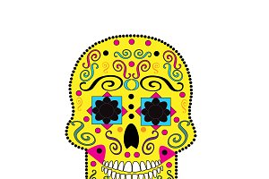 Day of the Dead, Halloween skull