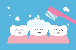 Smiling tooth gum icon