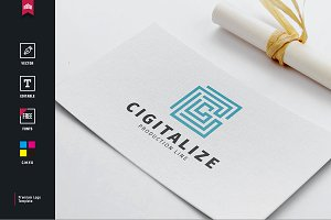 Cigitalize -  Letter C Logo
