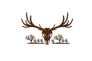 Mule Deer Skull Joshua Tree Icon