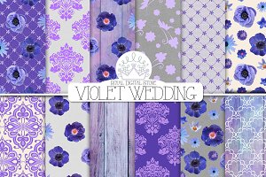VIOLET WEDDING digital pack