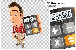 3D Handyman Holding Calculator