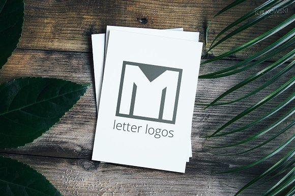 Letter M Blue Logos