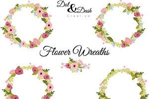 Peony Wreaths - Vector