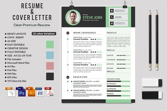 Clean Bright CV Resume Template