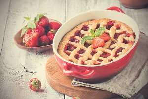 Traditional strawberry pie