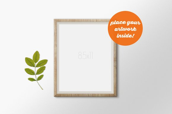 Frame Mockup with Acacia Leaf