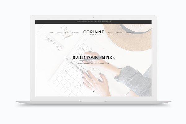 Corinne - A Theme for entrepreneurs