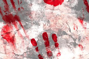"""bloody"" handprints seamless 