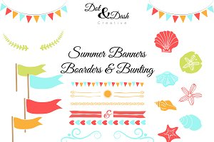 Summer Bunting, Banners, & Boarders