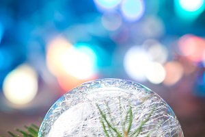 Christmas ball close up
