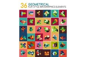 Vector geometrical flat style geometric banner templates
