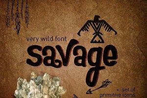 Wild font Savage