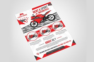 Motorcycle Rental Flyer