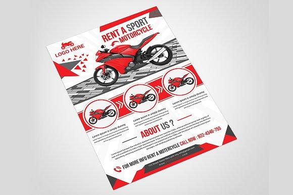 motorcycle rental flyer flyer templates creative market