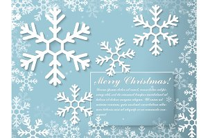 Christmas and New Year typographical on background