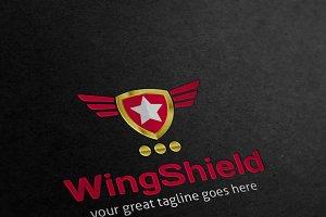 Wings Shield Crest Logo