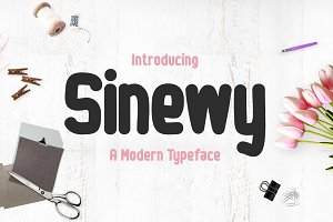 Sinewy Typeface
