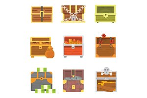 Cute set of diferent chests