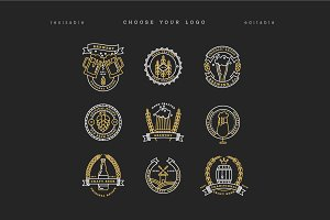 Beer Logotypes and Badges