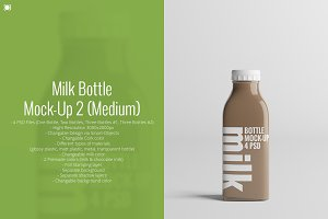 Milk Bottle Mock-Up 2 (Medium)