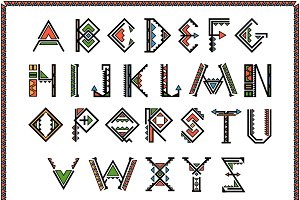 Native american indian font
