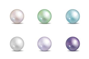 Multicolored pearls