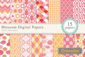 Blossom digital papers