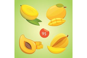 Mango fruits vector illustration