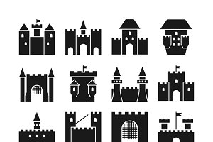 Castle vector icons