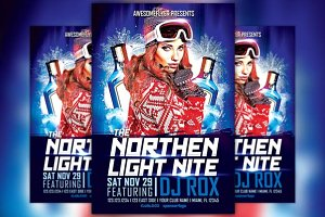 Northern Light Night Flyer Template