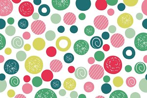Cute kids seamless pattern