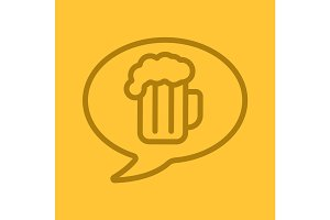 Beer order linear icon