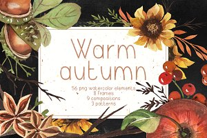 Autumn watercolor clipart