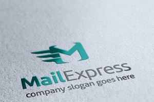 Mail Express Letter M Logo
