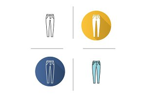 Women's skinny jeans icon