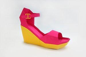 DIY High heel shoe - 3d papercraft