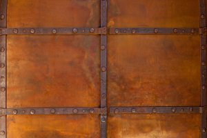texture of metal of old gate