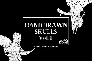 HandDrawn Skulls Vol.1