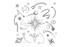 stars hand drawn