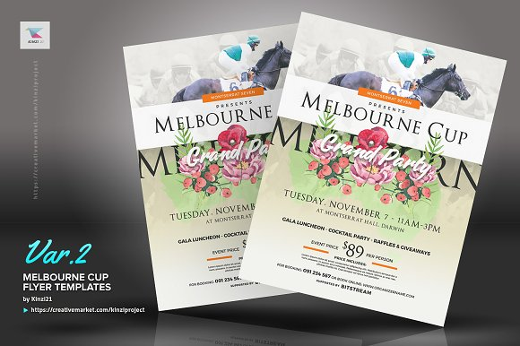 Melbourne cup flyer templates flyer templates creative market reheart Images