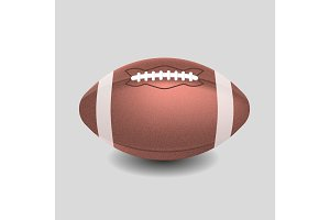 American football ball. Realistic vector illustration