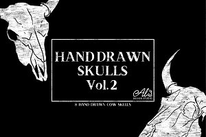 HandDrawn Skulls Vol.2