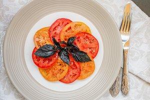 salad tomatoes Basil