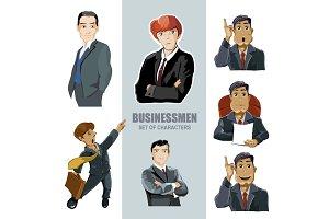 businessmen in diferent pose