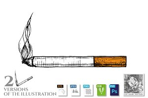 illustration of cigarette