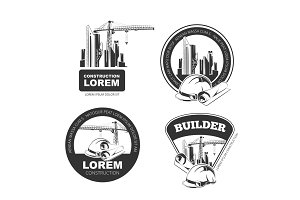 Vector Construction Emblems