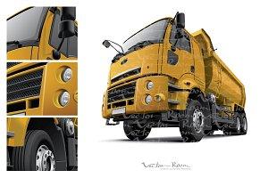 Cab-over Dump Truck