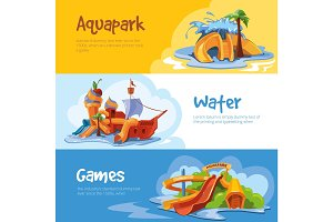 Waterslides in an aquapark