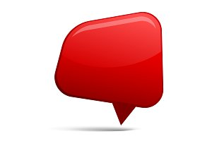 Abstract Red speech bubble